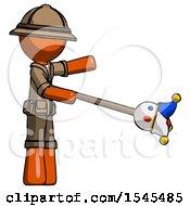 Orange Explorer Ranger Man Holding Jesterstaff I Dub Thee Foolish Concept
