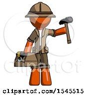 Orange Explorer Ranger Man Holding Tools And Toolchest Ready To Work