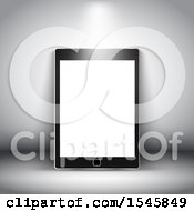 Clipart Of A 3d Tablet With A Blank Screen Royalty Free Illustration by KJ Pargeter