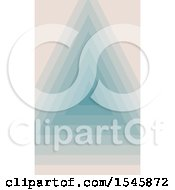 Clipart Of A Geometric Triangle Background Royalty Free Vector Illustration