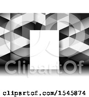 Clipart Of A Blank Canvas Against A Geometric Background Royalty Free Vector Illustration