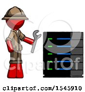 Red Explorer Ranger Man Server Administrator Doing Repairs