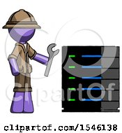 Purple Explorer Ranger Man Server Administrator Doing Repairs