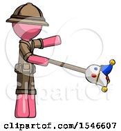 Pink Explorer Ranger Man Holding Jesterstaff I Dub Thee Foolish Concept