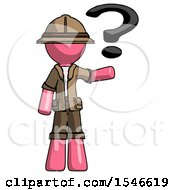 Pink Explorer Ranger Man Holding Question Mark To Right