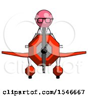 Pink Doctor Scientist Man In Geebee Stunt Plane Front View
