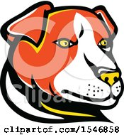 Clipart Of A Jack Russell Terrier Dog Mascot Head Royalty Free Vector Illustration by patrimonio