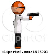 Orange Doctor Scientist Man Firing A Handgun