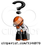 Orange Doctor Scientist Man Thinker Question Mark Concept