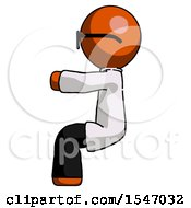 Orange Doctor Scientist Man Sitting Or Driving Position