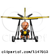 Orange Doctor Scientist Man In Ultralight Aircraft Front View
