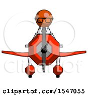 Orange Doctor Scientist Man In Geebee Stunt Plane Front View
