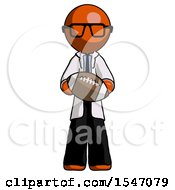 Orange Doctor Scientist Man Giving Football To You