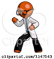 Orange Doctor Scientist Man Martial Arts Defense Pose Left by Leo Blanchette