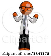 Orange Doctor Scientist Man Shrugging Confused