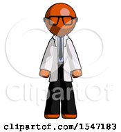 Orange Doctor Scientist Man Standing Facing Forward