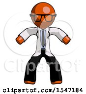 Orange Doctor Scientist Male Sumo Wrestling Power Pose