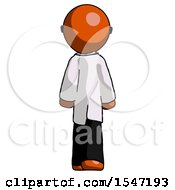 Orange Doctor Scientist Man Walking Away Back View