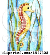 Clipart of a Cute Seahorse - Royalty Free Illustration by LoopyLand #COLLC1547205-0091