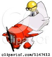 Yellow Doctor Scientist Man In Geebee Stunt Plane Descending View