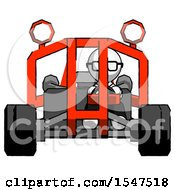 White Doctor Scientist Man Riding Sports Buggy Front View