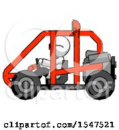 White Doctor Scientist Man Riding Sports Buggy Side View