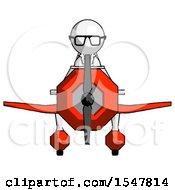 White Doctor Scientist Man In Geebee Stunt Plane Front View
