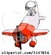 White Doctor Scientist Man In Geebee Stunt Plane Descending Front Angle View