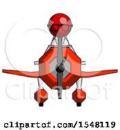 Red Doctor Scientist Man In Geebee Stunt Plane Front View