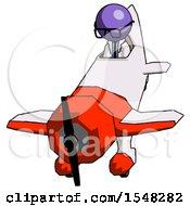 Purple Doctor Scientist Man In Geebee Stunt Plane Descending Front Angle View