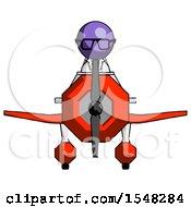 Purple Doctor Scientist Man In Geebee Stunt Plane Front View