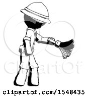 Ink Explorer Ranger Man Dusting With Feather Duster Downwards