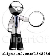 Ink Doctor Scientist Man Holding A Large Compass