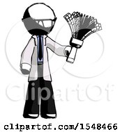 Ink Doctor Scientist Man Holding Feather Duster Facing Forward
