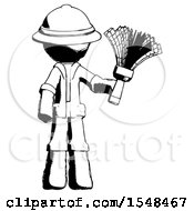 Ink Explorer Ranger Man Holding Feather Duster Facing Forward