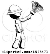 Ink Explorer Ranger Man Dusting With Feather Duster Upwards