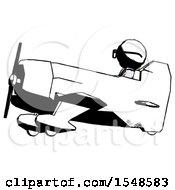 Ink Doctor Scientist Man In Geebee Stunt Aircraft Side View