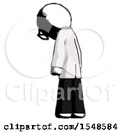 Ink Doctor Scientist Man Depressed With Head Down Back To Viewer Left