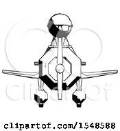 Ink Doctor Scientist Man In Geebee Stunt Plane Front View