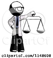 Ink Doctor Scientist Man Holding Scales Of Justice