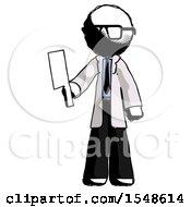 Ink Doctor Scientist Man Holding Meat Cleaver