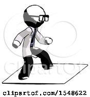 Ink Doctor Scientist Man On Postage Envelope Surfing
