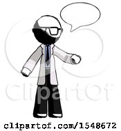 Ink Doctor Scientist Man With Word Bubble Talking Chat Icon