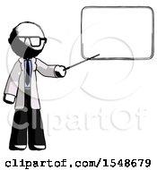 Ink Doctor Scientist Man Giving Presentation In Front Of Dry Erase Board
