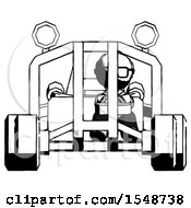 Ink Doctor Scientist Man Riding Sports Buggy Front View