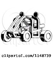Ink Doctor Scientist Man Riding Sports Buggy Side Angle View