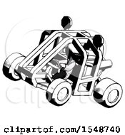 Ink Doctor Scientist Man Riding Sports Buggy Side Top Angle View