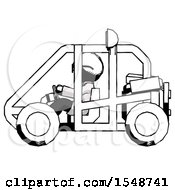 Ink Doctor Scientist Man Riding Sports Buggy Side View