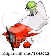 Green Doctor Scientist Man In Geebee Stunt Plane Descending View