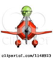 Green Doctor Scientist Man In Geebee Stunt Plane Front View